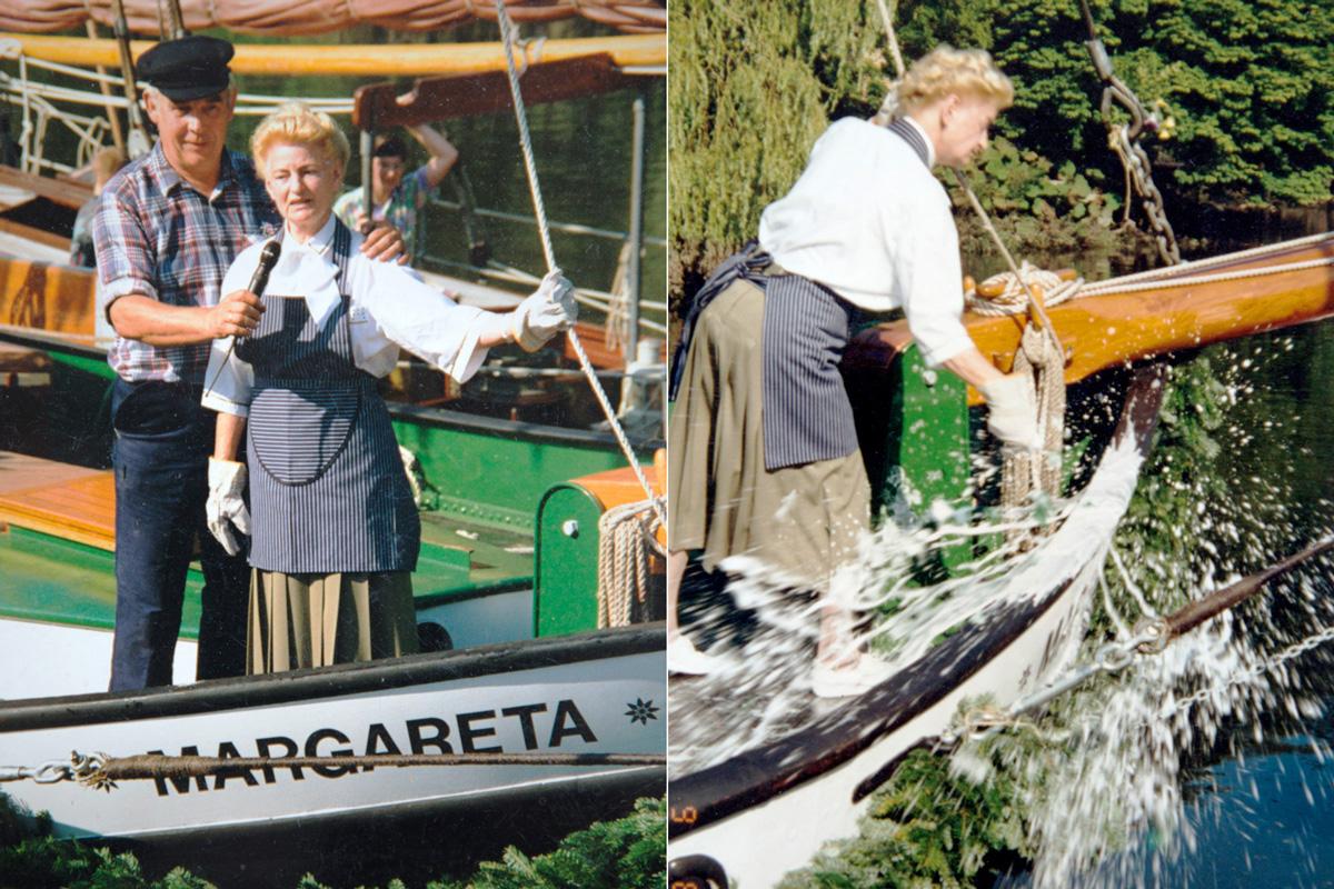Schiffstaufe durch Frieda Ecks